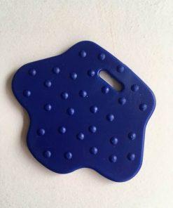 Bideringe / Fodformede med knopper i mørkeblå / 1 stk