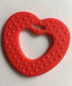 Hjerte bidering med knopper i rød / 1 stk