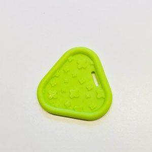 Trekant bidering med knopper i limegrøn / 1 stk