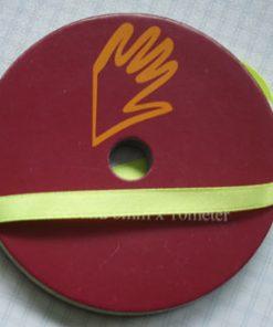 Satin-bånd / 3 mm x 10 m / Lys grøn