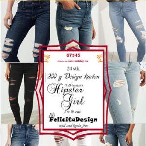 Toppers / Hipster girl / Felicita design