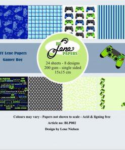 Karton / Gamer boy / By Lene papers
