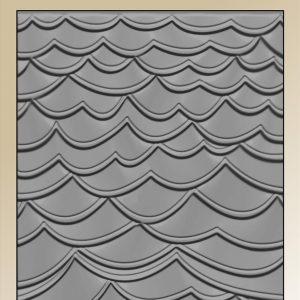 Embossingfolder / Bølger / By Lene embossing