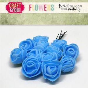Roser / Blå / Craft & you, 12 stk