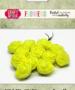 Roser / gul / Craft & you, 12 stk