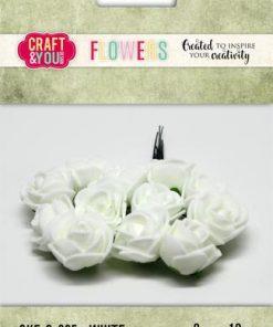 Roser / Hvid / Craft & you, 12 stk