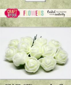 Roser / Ivory / Craft & you, 12 stk
