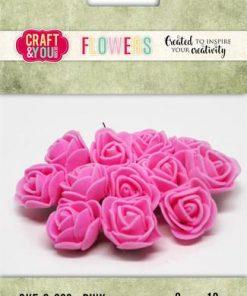 Roser / Pink / Craft & you, 12 stk
