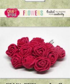 Roser / Fuchsia / Craft & you, 12 stk