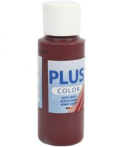Maling / Plus color hobbymaling / Bordeaux, 60ml