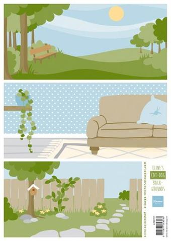 Baggrund med hunde & katte / Marianne Design