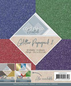 Karton pakke / 15,2 x 15,2 cm / Glitter