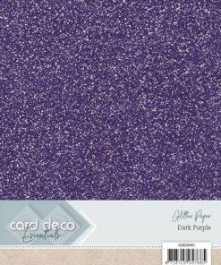 Glitter karton A4 / Lilla / 230 g, 6 ark