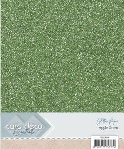Glitter karton A4 / Æblegrøn / 230 g, 6 ark