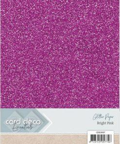 Glitter karton A4 / Pink / 230 g, 6 ark