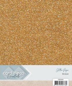 Glitter karton A4 / Bronze / 230 g, 6 ark