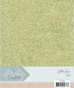 Glitter karton A4 / Guld / 230 g