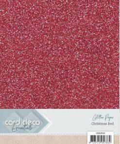 Glitter karton A4 / Rød / 230 g