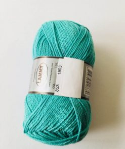 Cotton 8/4 i farven blå-grøn 853 / Bomuldsgarn