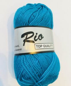 Rio / Merceriseret bomuldsgarn / Klar blå