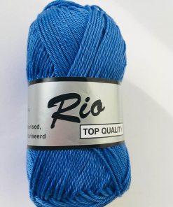 Rio / Merceriseret bomuldsgarn / Kobolt blå