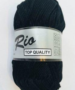 Rio / Merceriseret bomuldsgarn / Sort