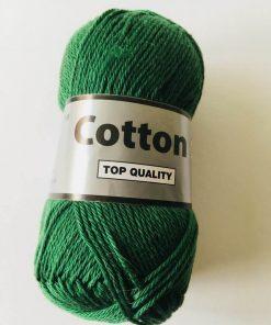 Cotton 8/4 i farven mørk grøn 072 / Bomuldsgarn