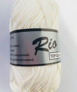 Rio / Merceriseret bomuldsgarn / Råhvid