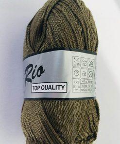 Rio / Merceriseret bomuldsgarn / Kaki