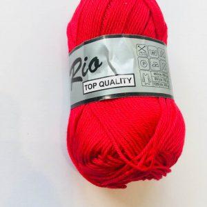 Rio / Merceriseret bomuldsgarn / Rød