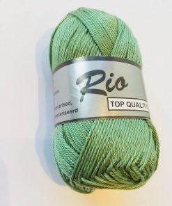 Rio / Merceriseret bomuldsgarn / Støvet grøn