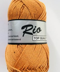 Rio / Merceriseret bomuldsgarn / Gul-Brun