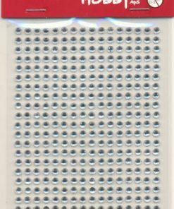 Rhinsten selvklæbende, 3 mm akryl klar