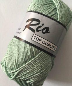Rio / Merceriseret bomuldsgarn / Støvet lys grøn
