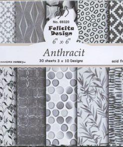 Karton 15 x 15 cm / Anthracit / Felicita Design