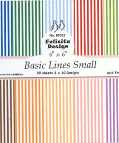 Karton / Basic, striber, smal / Felicita Design