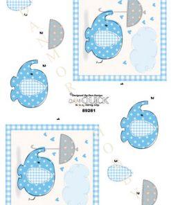 Børn / Baby elefant, lyseblå / Dan-Quick