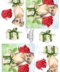 Dyr / Hund med pakke / Dan-Quick