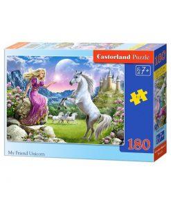 Puzzlespil / Mig og min enhjørning / 180 brikker