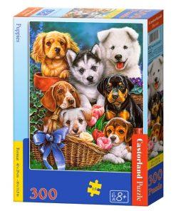 Puzzlespil / Hundehvalpe / 300 brikker