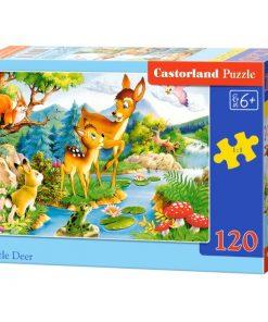 Puzzlespil / Dyr ved skov / 120 brikker