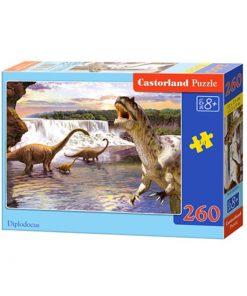 Puzzlespil / Dino ved vandfald / 260 brikker