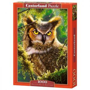 Puzzlespil / Ugle kigger og venter / 1000 brikker/