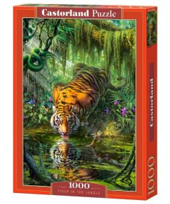 Puzzlespil / Tiger i jungle / 1000 brikker