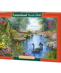 Puzzlespil / Sorte svaner / 1500 brikker