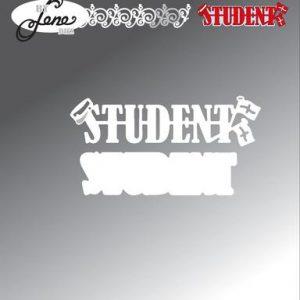 Dies / Teksten 'student' / By Lene Dies