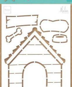 Stencil / Hundehus / Marianne Design