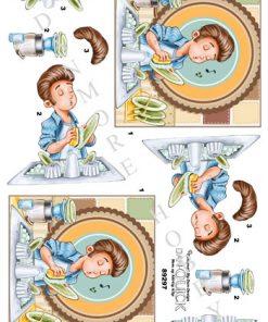 Herre / Opvasker med sang / Dan-Quick