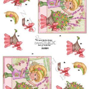 Børn / Pige laver blomster / Dan-Quick