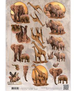 Dyr / Elefanter,giraffer & næsehorn / Amy Design